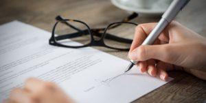 Ausbildungsvertrag unterschreiben