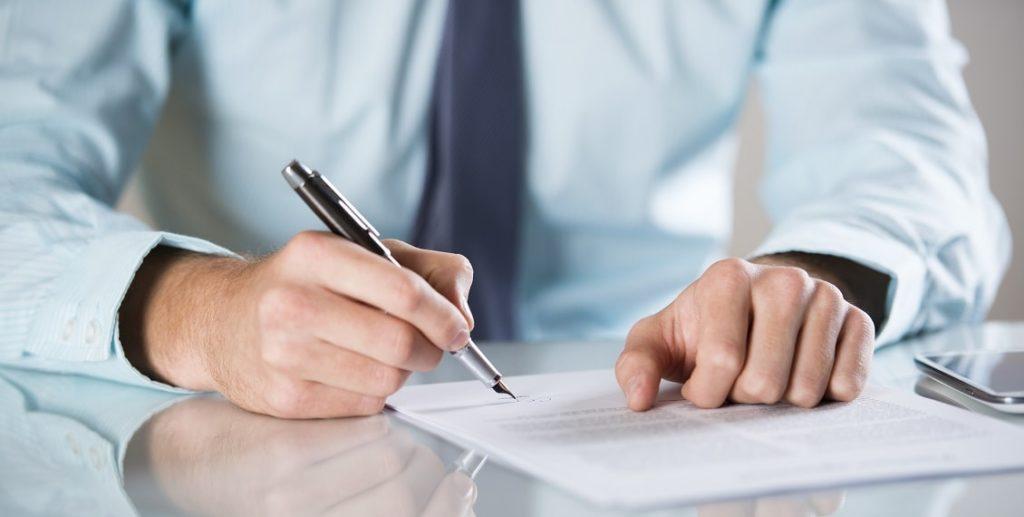 Aufhebungsvertrag unterzeichnen